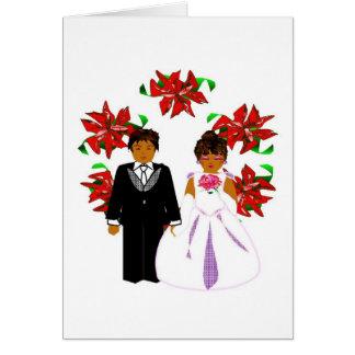 Navidad que casa pares con la guirnalda felicitación