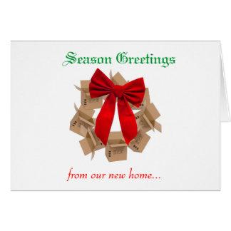 Navidad que mueve la tarjeta