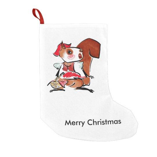 Navidad que pega 2 calcetín navideño pequeño