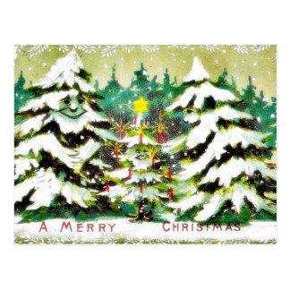 Navidad que saluda con los deseos escritos en un e postales