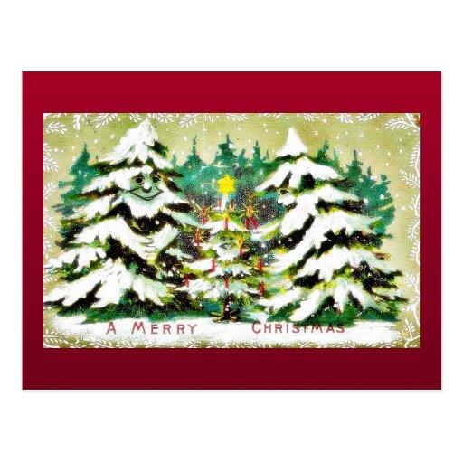 Navidad que saluda con los deseos escritos en un e postal