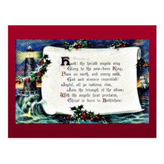 Navidad que saluda con los wishses escritos, light postales