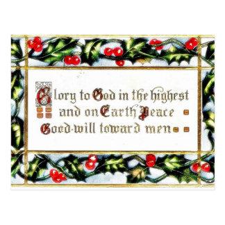 Navidad que saluda con los wishses escritos tarjetas postales