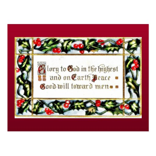 Navidad que saluda con los wishses escritos postal