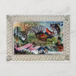 Navidad que saluda, postal del Victorian