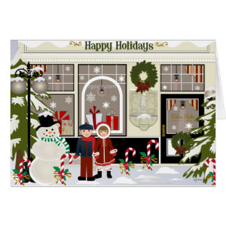 Navidad que saluda tarjeta