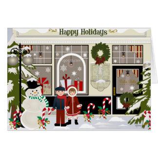 Navidad que saluda tarjeta pequeña