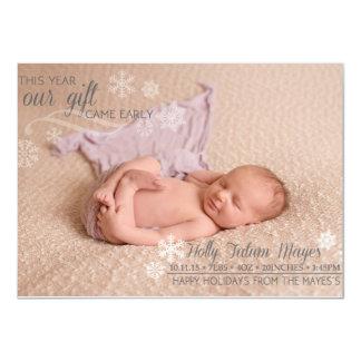 Navidad recién nacido invitación 11,4 x 15,8 cm