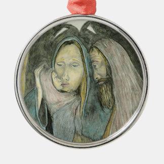 Navidad religioso de la natividad de Jesús Maria Ornamentos De Reyes Magos