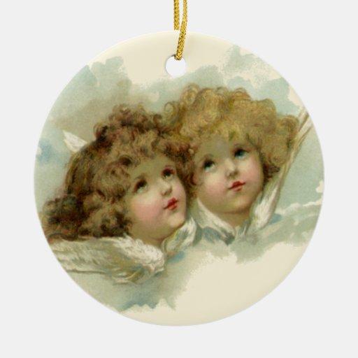 Navidad religioso del vintage, ángeles del Victori Adorno De Navidad