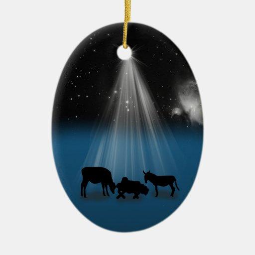 Navidad, religioso, natividad, estrellas, ornament adorno para reyes