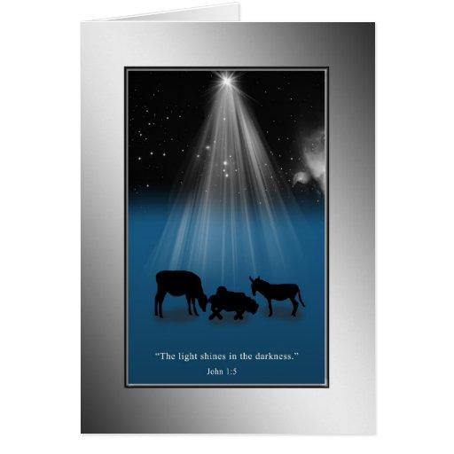 Navidad, religioso, natividad, estrellas, tarjeta