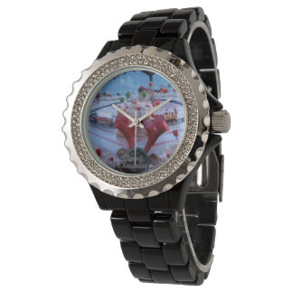 navidad reloj de pulsera