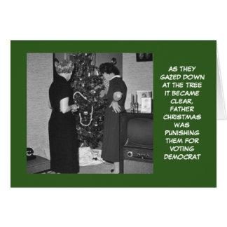 Navidad republicano divertido tarjeta de felicitación