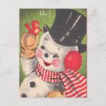 Navidad retro del muñeco de nieve