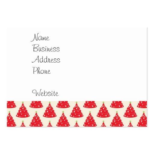 Navidad roja del modelo del árbol de navidad del d plantillas de tarjetas de visita