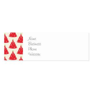 Navidad roja del modelo del árbol de navidad del tarjetas de visita mini