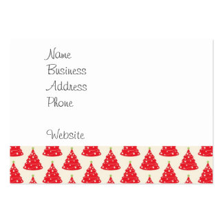 Navidad roja del modelo del árbol de navidad del tarjetas de visita grandes