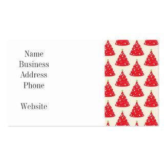Navidad roja del modelo del árbol de navidad del tarjetas de visita