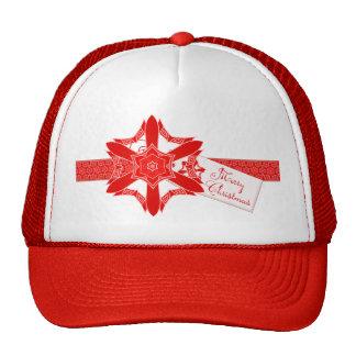 Navidad rojo con clase del cordón gorras