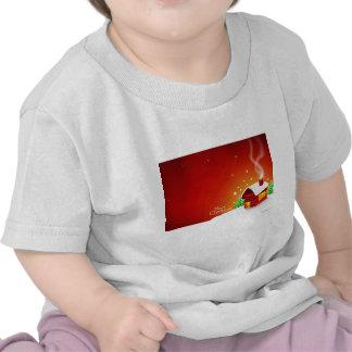 Navidad rojo de la casa camiseta