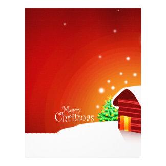 Navidad rojo de la casa tarjeta publicitaria