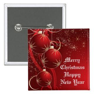 Navidad rojo elegante pin