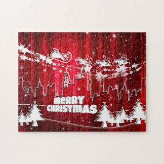 Navidad rojo puzzle