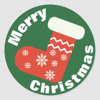 Navidad rojo que almacena al pegatina