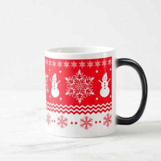 Navidad rojo y blanco taza mágica