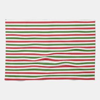 Navidad rojo y toallas verdes
