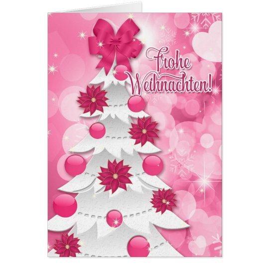 Navidad rosado de Frothe Weihnachten del alemán Tarjeta De Felicitación