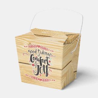 Navidad rústico comodidad y caja del favor de la