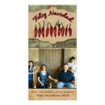 Navidad rústico de la foto de la pimienta roja de tarjeta personal con foto