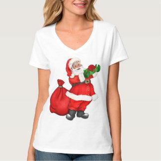 Navidad Santa con los regalos Camiseta