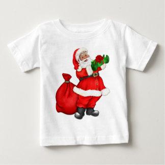 Navidad Santa con los regalos Camisetas