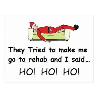Navidad Santa divertido Postal