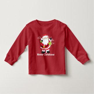 Navidad Santa y su camiseta del niño del saco
