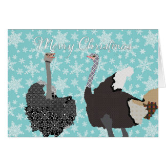 Navidad santo de la avestruz de O que saluda Felicitacion
