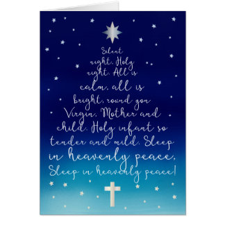 Navidad santo del cristiano de la noche de la tarjeta de felicitación