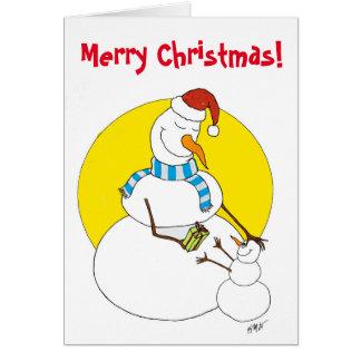 Navidad: Snowpeople Tarjeta De Felicitación
