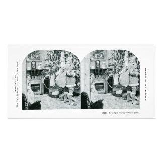 Navidad Stereoview - vintage Tarjetas Con Fotos Personalizadas