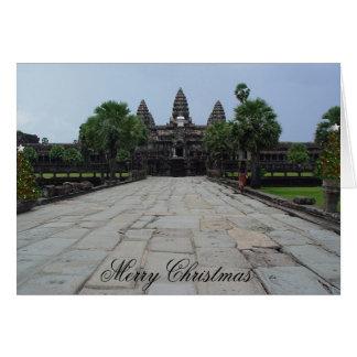 Navidad sutil de un Angkor Wat Tarjeta De Felicitación