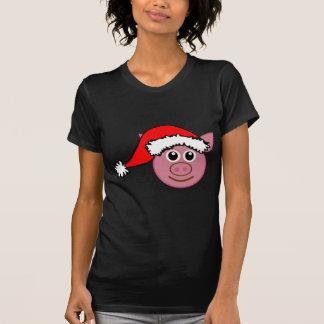 Navidad T Santa_pig_T de las sudaderas con capucha