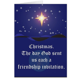 Navidad: Tarjeta de la invitación de la amistad