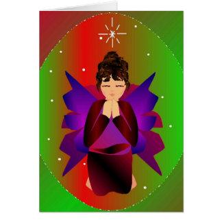 """Navidad Tarjeta-Personalizable del ángel I"" Tarjeta"