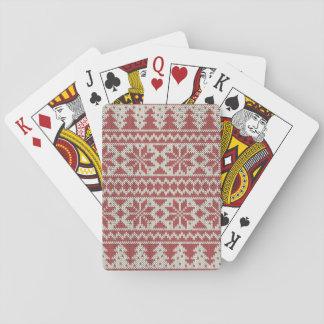 Navidad tradicional barajas de cartas