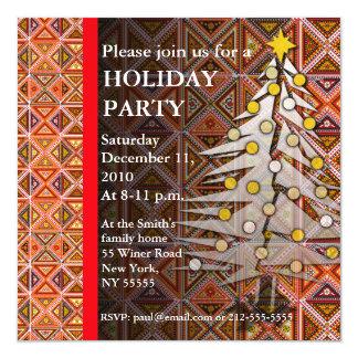 Navidad Tre del edredón del adorno de la Invitación 13,3 Cm X 13,3cm