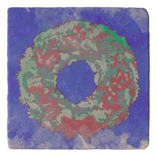 """""""Navidad Trivet de piedra (RGB) de la guirnalda de Salvamanteles"""