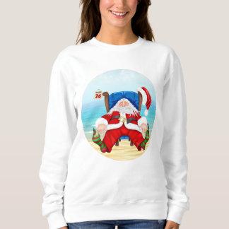 Navidad tropical camiseta o camiseta de Santa